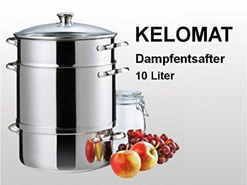 Kelomat Spezialkochgerät Dampfentsafter Induktion, Ø 27 cm, 10 l