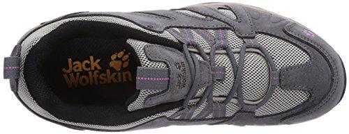 Jack Wolfskin VOJO HIKE LOW W, Chaussures de randonnée femme Gris (Pink Hortensia)