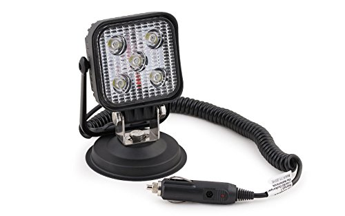wellenshop 12 V Suchscheinwerfer 5 LED auf Magnetfuß 2 m Spiralkabel Arbeitsleuchte