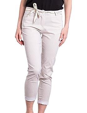[Patrocinado]Abbino 2072 Pantalones para Mujer - Hecho en ITALIA - 2 Colores - Verano Primavera Algodón Largos Deporte Casual...