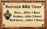 Beyyins Redneck BBQ Timer Schild Cookout Bier Steak Burgers Franks Holzschild 826193