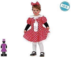 Atosa-61307 Atosa-61307-Disfraz Ratoncita-Bebé Niña, Color rojo, 24 Meses (61307