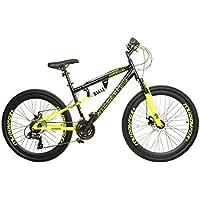 Muddyfox New Mens/Gents Black Nevada 26 Inch Dual Suspension Bikes - Black - UK Sizes 1-1