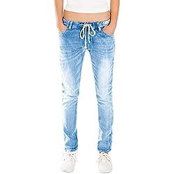 Fraternel Jeans Donna Jogger Pantaloni Normal Waist Blu Taglia: IT 46 - XL