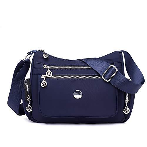 Borsa a tracolla in nylon monospalla donna casual Borsa a tracolla mummia femminile borsa a mano nuova borsa blu scuro