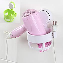 Bathroom accessories Round rack Wall Holder Vacuum Suction Cup Hair dryer Holder Hanging Standing Flat Home Organizer