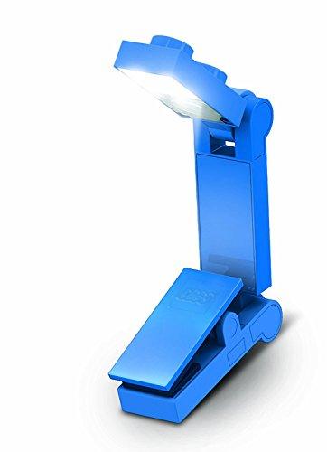 Lego LED Book Light mini Portable Travel lampada da notte lampada W/Clip per disegnare Homework Art Crafts lettura campeggio Blue