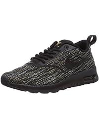 sports shoes 1a54b f9bbf Nike Air Max Thea Jacquard, Baskets Basses Femme, Noir-Schwarz (Black