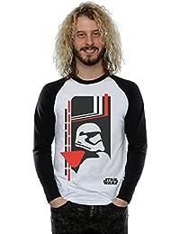 Star Wars hombre The Force Awakens Captain Phasma Icon Camisa de manga larga de béisbol