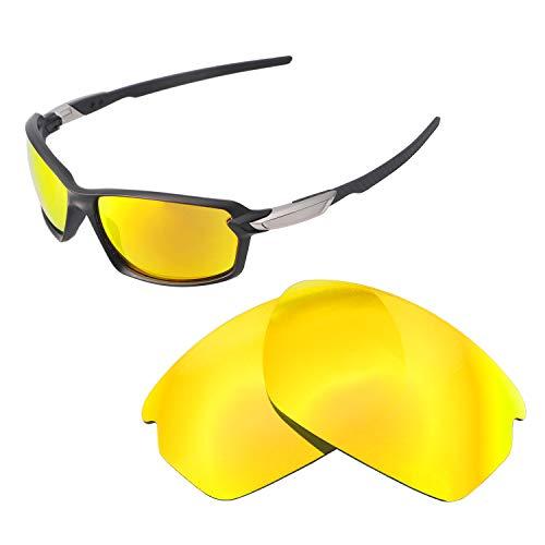 Walleva Ersatzgläser für Oakley Carbon Shift Sonnenbrille - Verschiedene Optionen erhältlich, Unisex-Erwachsene, 24K Gold Mirror Coated - Polarized, Einheitsgröße