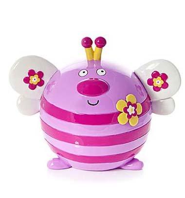 Huchas infantiles bebé niña rosa en forma de mariposa