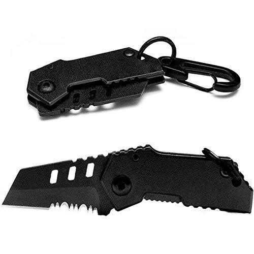 GLQ Klappbare Wallet Knife-Klappkordner-Klappkordner mit Money Clip-Portable Small Folding Knife-Full Matte Finish/Sturdy/Outdoor Essential. Nano 2.