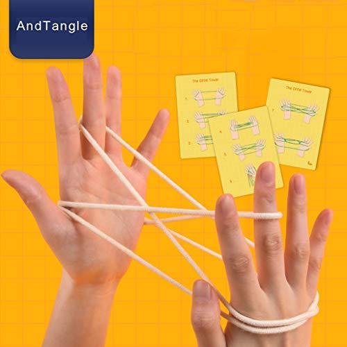 Tensay Cats Cradle String String Handspiel Fingerband Spielzeugzubehör, Klassisches traditionelles Kinderspielzeug Puzzlespielspielzeug 650 Cradle Kit