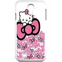 Hello Kitty O1X17U8JR funda Samsung Galaxy S4 9500 funda caso N61YUK blanco
