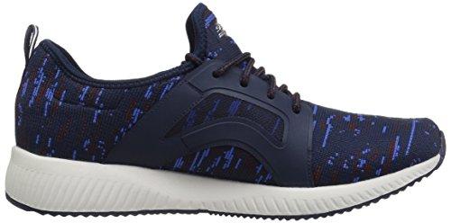 Skechers Damen Bobs Squadra-doppia Sfida Slip On Sneaker Blu Navy