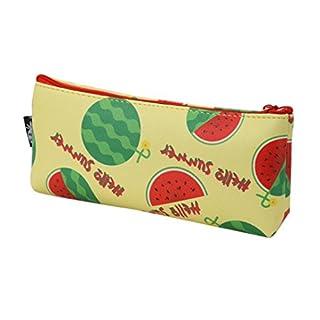 amazingdays Fruit Student Canvas Pencil Pen Case Cosmetic Makeup Travel Bag Handbag 19x8.5cm C