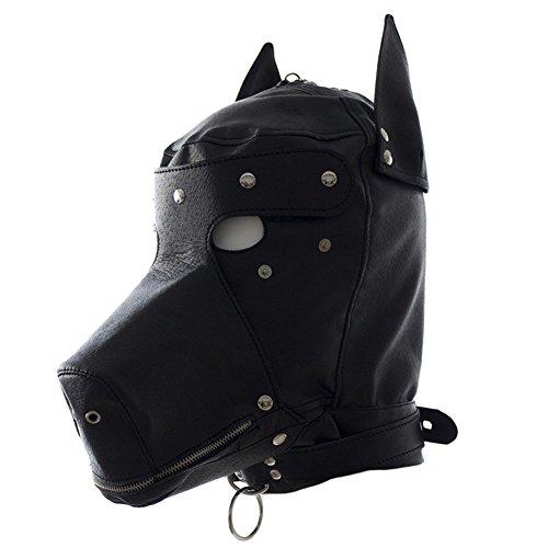 Bondage Hund Maske für Männer Frauen Flirt Helm (Hund Menschen Kostüm)