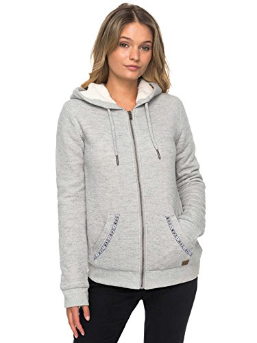 Roxy Damen Trippin Sherpa-Zip-Up Hoodie heritage heather