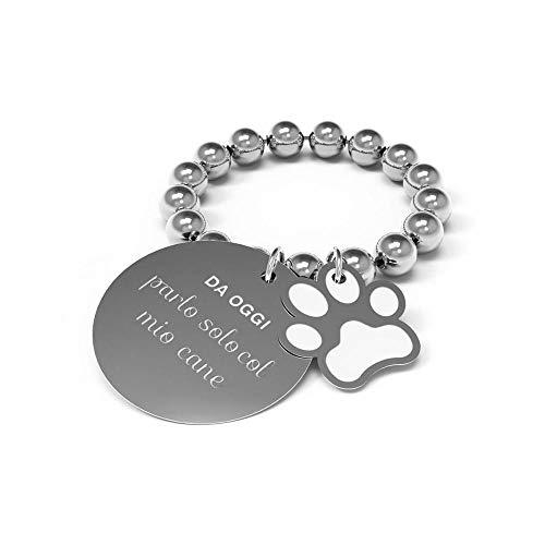 immagini ufficiali marchio popolare cerca il meglio 10 Buoni propositi by Anna Biblò, Petit - Anillo con texto Da oggi parlo  solo col mio cane