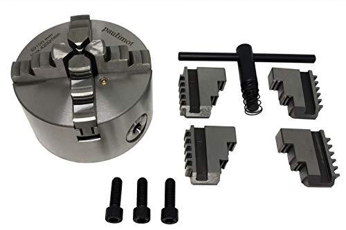 PAULIMOT Vierbackenfutter für Drehbank, 100 mm, zentral verstellbare Backen
