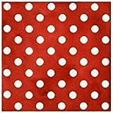 Tela roja lunares puntos blancos de Quilting Treasures Daily Grind