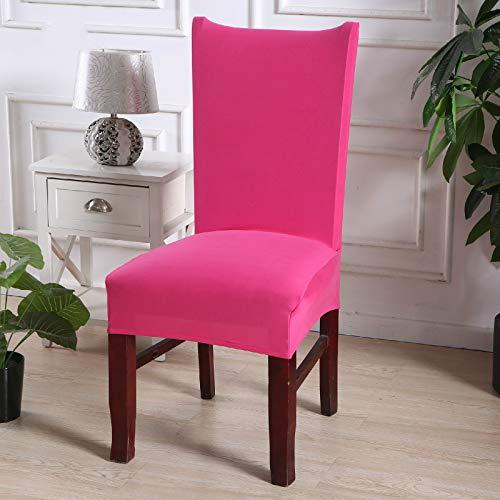 Semplice sedia universale elastica universale set rossa,coprisedie con schienale elasticizzato stampa floreale vestisedia moderno universale fodera per sedie copertura della sedia sala da pranzo