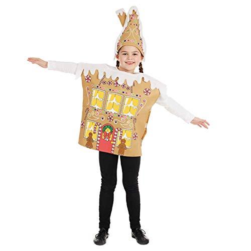 Fun Shack Beige Lebkuchenhaus Kostüm für Jungen und Mädchen - Groß