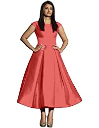 Minimall Women's Plain Semi Stitched Bollywood Designer Gown