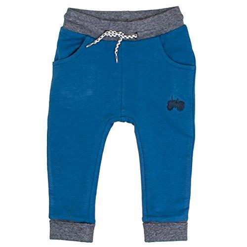SALT AND PEPPER Baby-Jungen Hose B Trousers Little Man Uni, Blau (Strong Blue Melange 469), 80