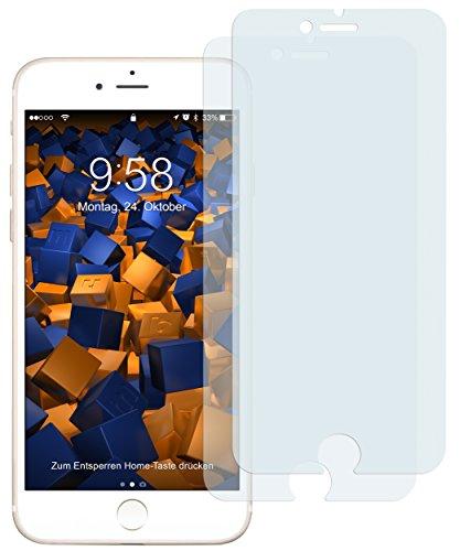 2 x mumbi Displayschutzfolie für iPhone 8 / iPhone 7 Folie Schutzfolie (bewusst kleiner als das Display