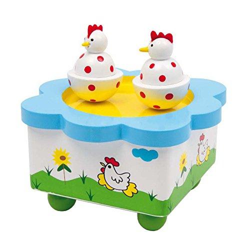 """Small Foot by Legler Spieluhr """"Hennentanz"""" aus Holz, mit abnehmbaren Magnet-Figuren, tanzende Hennen und eine schöne Melodie verzaubern Babys und Kinder, schmucke Dekoration für das Kinderzimmer"""