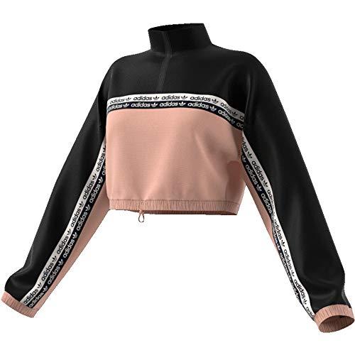 adidas Cropped W Sweater ash Pearl/Black -