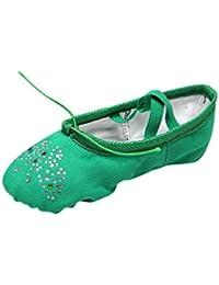 YAANCUNN Zapatillas de Ballet Punta de Ballet Suela Partida de Cuero Zapatos de Ballet para Niños