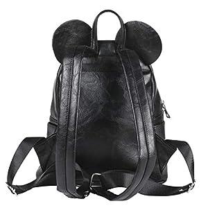 Cerdá Mochila Casual Moda Polipiel Minnie, Negro, 25 cm