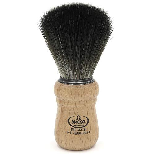 """Omega 0196228 - Pennello da barba in fibra\""""Black Hi-Brush\"""""""