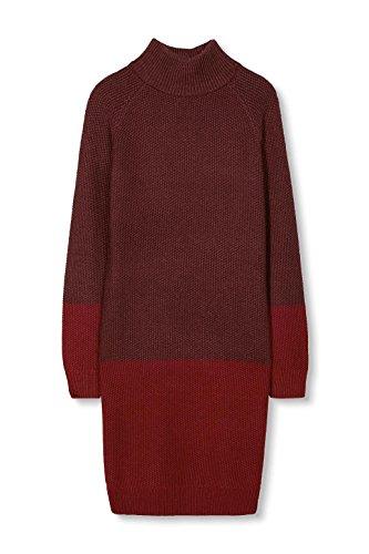 edc by Esprit 106cc1e009, Robe Femme Rouge (Bordeaux Red)