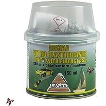 Vetroresina en pasta de masilla para fibra de vidrio con catalizador 150 ml ideal para carrocería