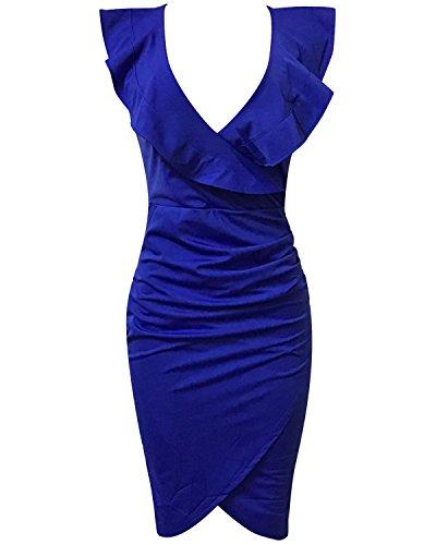 Gikim-Womens-Vintage-V-Neck-Ruffle-Tight-Wrap-Club-Midi-Party-Bodycon-Dress