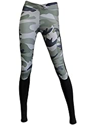 Femme Respirant Sports Leggings Yoga Pantalon Fitness Joggings Pantalon de Sport Collant de Sport