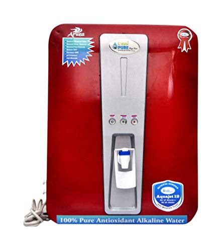 L'EAUPURE 12 Stage Alkaline Aruza Model 12-Liters RO Water Purifier (Red)