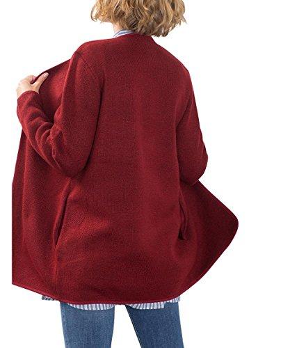 ESPRIT Damen Jacke Mit Taschen Rot (GARNET RED 5 624)