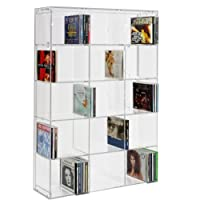 SORA Acrylic CD Rack transparent back-panel