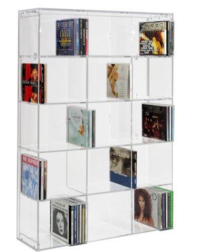 Rack CD SORA en acrylique avec panneau arrière transparent