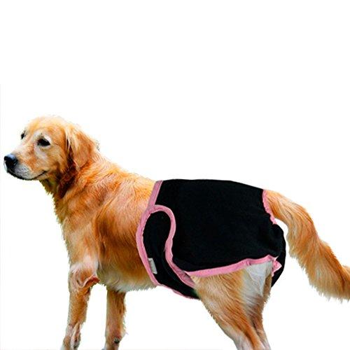 Bao Core Haustier Hund Sanitär Windel Hygieneunterhose Physiologische Unterwäche Schwarz/Pink XL
