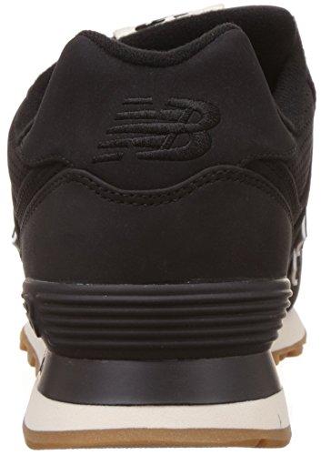 New Balance 574, Baskets Basses Homme Noir (Black)
