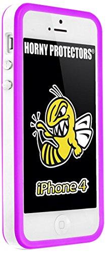 Horny Protectors Bumper avec boutons en métal pour Apple iPhone 4(non 4S) blanc/rose