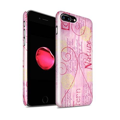 STUFF4 Glanz Snap-On Hülle / Case für Apple iPhone 8 Plus / Gelb Muster / Muster Natur Kollektion Rosa / Gelb
