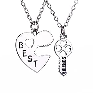Buy tbop necklace jewelry heart key lock best friends brother tbop necklace jewelry heart key lock best friends brother girlfriend set necklace in aloadofball Image collections