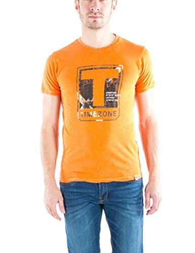 Timezone Herren Logo T-Shirt Washed Orange (Traffic 7082)
