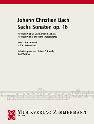 Sechs Sonaten: Nr. 4-6. Heft 2. op. 16. Flöte (Violine) und Klavier (Cembalo). (Flöte Und Vier Klavier Sonaten Für)